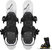 Skiskates - Short Mini Ski Skates for Snow | Skating Skis Snowblades Skiboards | Ice Skates for Snow | Shortes