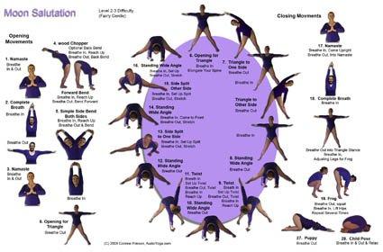 Moon Salutation Reference Card Serenity Yoga Corinne Friesen Serenity Audio Yoga 9781897266298 Amazon Com Books