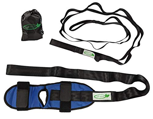 Lumia Wellness Stretch-it Out Kit | Foot Strap & Multi-Loop Nylon Strap Bundle | Exercise Guide & Carrying Bag Included