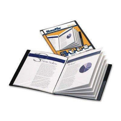 Presentation Book, 6 Pockets, 11''x8-1/2'', Black [Set of 2]