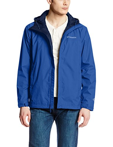 Tall Rain Gear - Columbia Men's Watertight II Front-Zip Hooded Rain Jacket,Azul,Large
