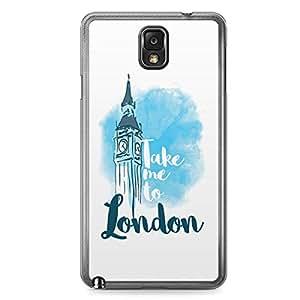 London Samsung Note 3 Transparent Edge Case - Destinations of the World