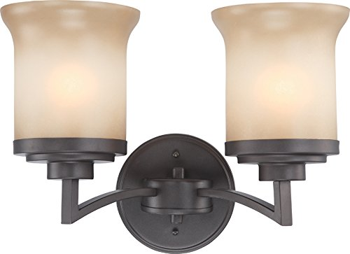 Nuvo Lighting 60/4122 Two Light Vanity, Dark Chocolate Bronze