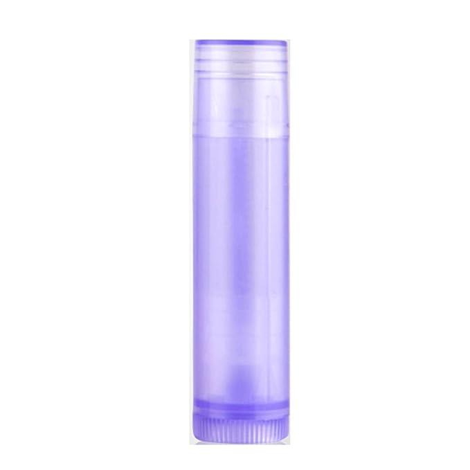 25Pcs LPATTERN Empty Lip Balm Containers - Bulk Chapstick Tubes BPA Free - DIY Lipstick - Make Your Own Lip Gloss 67mm X 16.6mm Purple
