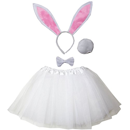 Kirei Sui Kids Costume Tutu Set White Bunny -