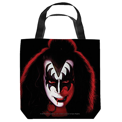 [KISS Demon Tote Bag 18X18 White] (Kiss Catman Makeup)