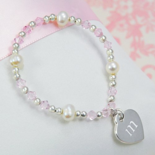 Cathy's Concepts Personalized Little Girl's Heart Charm B...