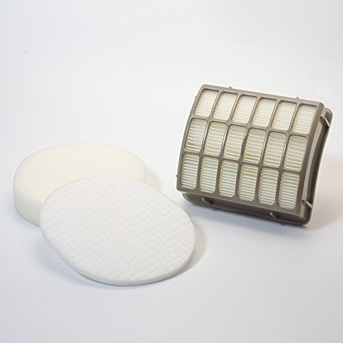 HEPA Filter and Foam & Felt Filter for Shark XFF80 XHF80 Upright Vac Vacuum Cleaner Models NV80, NV70, NVC80C, UV420, NV90 -