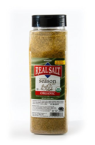 Redmond Real Sea Salt - Natural Unrefined Organic Gluten Free, Seasoning 32 Ounce Container … …