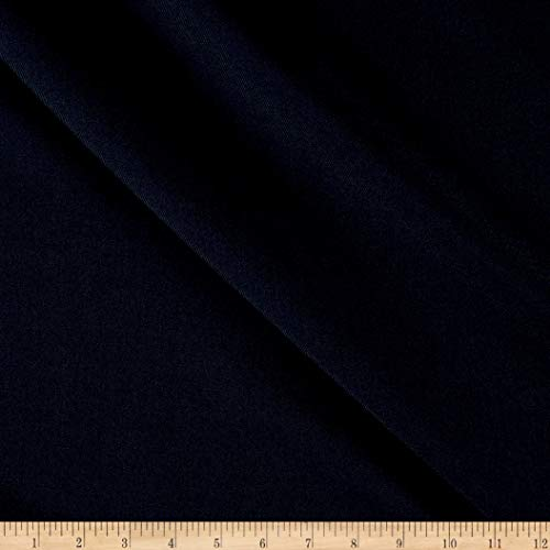 (Tuva Textiles Solid Wool Blend Gabarine Fabric, Navy, Fabric By The Yard)
