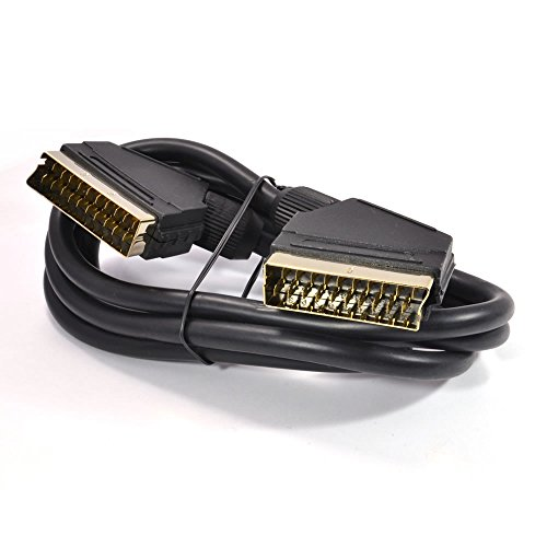 - Kenable Scart Cable 21 pins connected Black Lead Gold Connectors 1.5m (~5 feet)