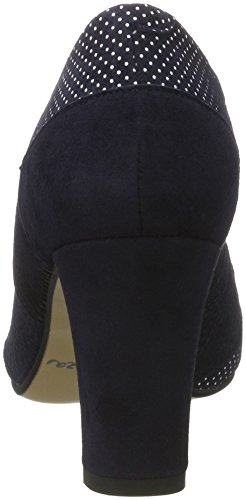 Bleu 930517 Femme blau Fermé Escarpins Bout 5 Noir Piazza 1Y6wRSqxR
