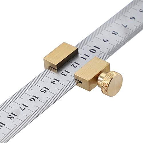 Vkospy Regla Posicionamiento Bloque carpinter/ía L/ínea Localizador Regla de Acero Fijo Carpintero Scriber gramil de Herramientas