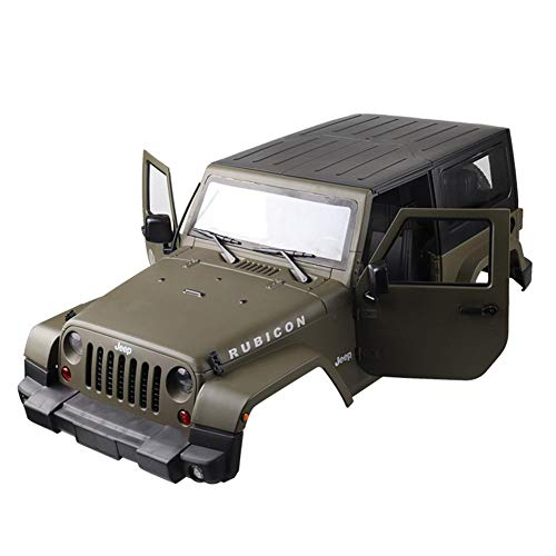 Truck Hard Body Shell for 1/10 Scale RC Jeep Wrangler ,Army Green