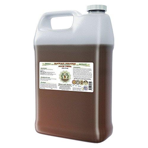 Aloe Vera Alcohol-FREE Liquid Extract, Organic Aloe Vera (Aloe Vera ) Dried Leaf Glycerite Hawaii Pharm Natural Herbal Supplement 64 oz by HawaiiPharm
