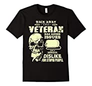 Mens Funny Veteran T-Shirt Skull Graphic Veteran Gift Tee