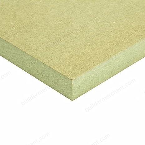 2ft x 1ft 610mm x 300mm Package Quantity: 1 Sheet Builder Merchant MR Moisture Resistant MDF 6mm 2x1ft