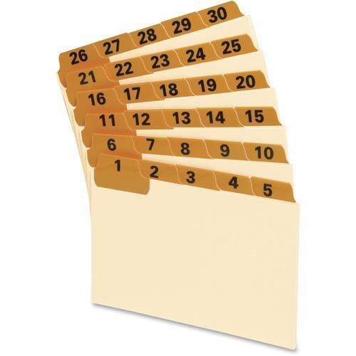 03532-oxford-lamianted-index-card-guides-31-x-dividers-printed-1-to-31-5-divider-width-31-set-manila