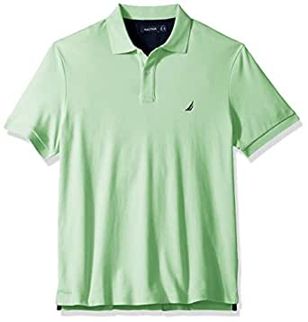 Nautica Men's Big and Tall Classic Fit Short Sleeve Solid Soft Cotton Polo Shirt, ash Green, 1X