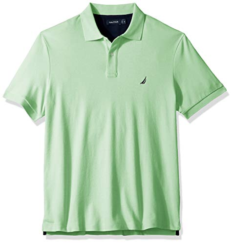 - Nautica Men's Classic Fit Short Sleeve Solid Soft Cotton Polo Shirt, ash Green, 2X Big