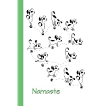 Journal: Dog Yoga (Namaste/Green) 6x9 - LINED JOURNAL - Writing journal with blank lined pages