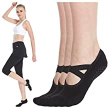 Womens Non Skid Low Cut Yoga Socks Barre Socks for Studio/Hospital/Yoga/Pilates/