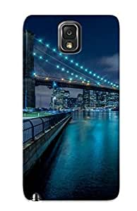 Christmas Day's Gift- New Arrival With Nice For Iphone 5C Case Cover - Lights Night New York Bridge Brooklyn