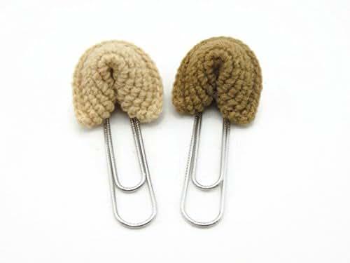 Paper Clip Planner Bookmark Crochet Food Bookworm Accessories Fortune Cookies