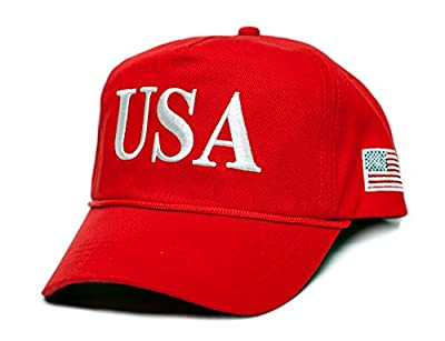USA 45 Trump Make America Great Again Embroidered hat One Size Adult Red, White Cap