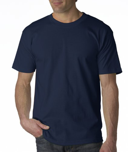 Bayside Apparel mens 6.1 oz. Basic T-Shirt(BA5100)-NAVY-XL
