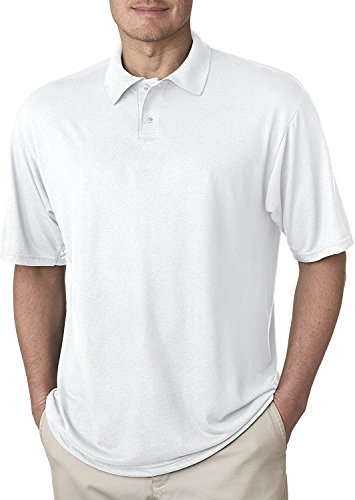 Jerzees 421 Adult Sport Jersey Polo - White, 3XL