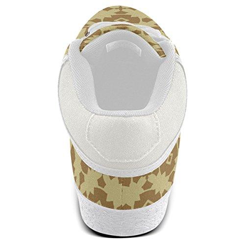 Artsadd Terre Or Géométrique Chukka Toile Chaussures Pour Hommes (model003)