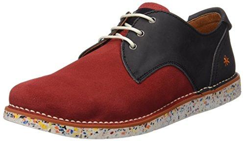 ART 1088 Olio I Move, Zapatos de Cordones Derby para Hombre Rojo (Tibetblack)