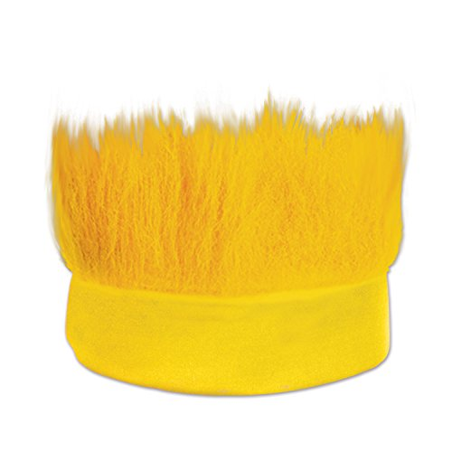 Beistle Hairy Headband, Yellow -