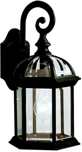 Kichler 9735BK Barrie Outdoor Wall 1-Light, Black - Green Kichler