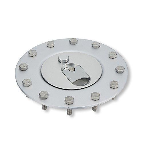 Heinmo Aluminum Billet Fuel Cell/Fuel Surge Tank Cap Flush Mount Cap Open 12 Bolts Cap Opening 2.25