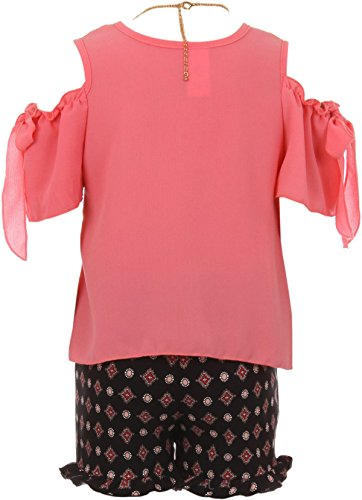 BluNight Sleeveless Striped Crop Top Summer Casual 2 Pieces Skirt Set for Girls