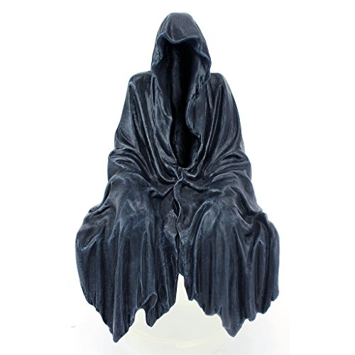 Design Toscano Reaping Solace The Creeper Gothic Decor Shelf Sitting Statue, 8 Inch, Polyresin, Greystone ()