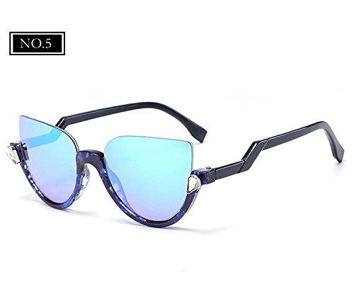 Sonnenbrille Designer Marke Katzenaugen Gläser Vintage Spiegel Frauen Spitzen Sonnenbrille KLXEB No3 Schatten NO5 Halbrand 8CHwq