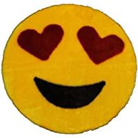 Emoji Rug - Soft and Cute - Made in France - Perfect for Any Room - Dorm Bed Bathroom Kids Room Emojis (Heart Eyes) Non-Slip and Machine Washable Faux Fur 2 2