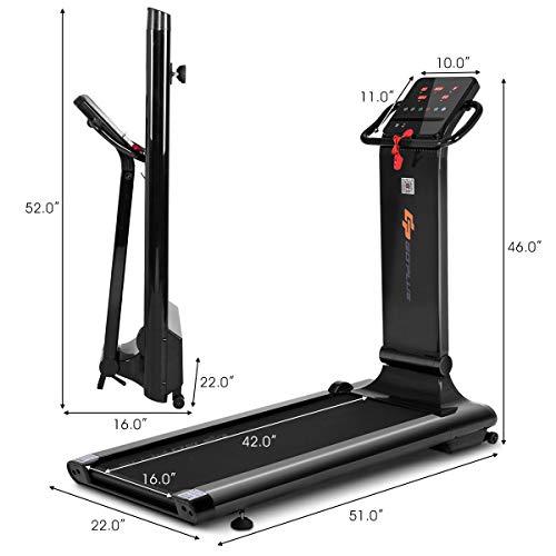Goplus 1.5HP Electric Folding Treadmill Portable Motorized Running Machine Home Gym Cardio Fitness w/App (Black) by Goplus (Image #8)