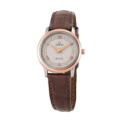 Omega De Ville Prestige Diamond Silver Dial Ladies Watch 424.23.27.60.52.001