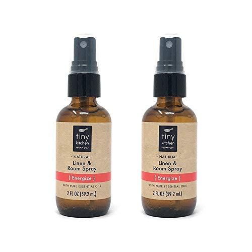 Energize Essential Oil Linen and Room Spray (2 Pack) - Handmade Natural Air Freshener