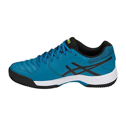 Hombre Gel para Clay Game turquoise Asics Tenis noir foncé de Zapatillas 6 blanc RqanZWOw