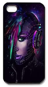 IMARTCASE iPhone 4S Case, Artistic Daft Punk Dj PC Black Hard Case Cover for Apple iPhone 4S/5