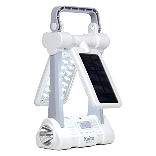 Kaito KA768 Multi-functional Twin-Panel Rechargeable Portable Solar LED Lantern
