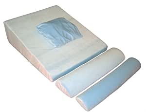 """Memory Foam Bed Wedge with supports - Doctor Designed and Recommended - Comfort Guarantee 30"""" x 29"""" x 9"""""""
