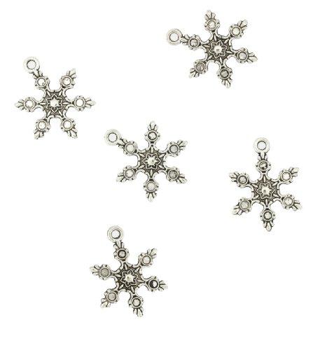 Mandala Crafts Wholesale Tone Christmas Theme Charm Pendants(Large Silver Tone Snowflakes, 5 (Bulk Wholesale Costume Jewelry Distributors)