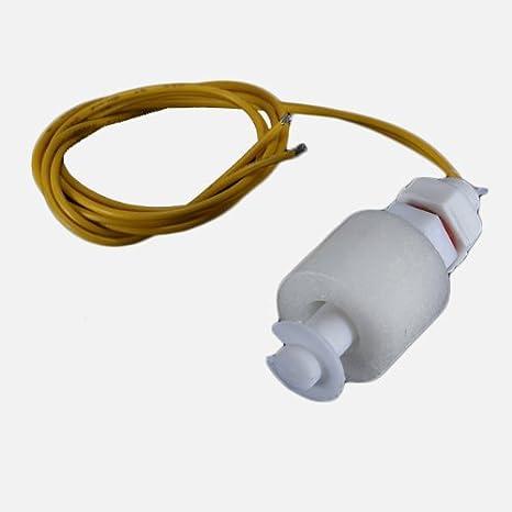 Sensor de Nivel PP Líquido Agua interruptor de flotador horizontal de Down Blanco.: Amazon.es: Electrónica