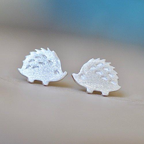 Adorable Hedgehog Earrings in Sterling Silver 925 Jamber Jewels